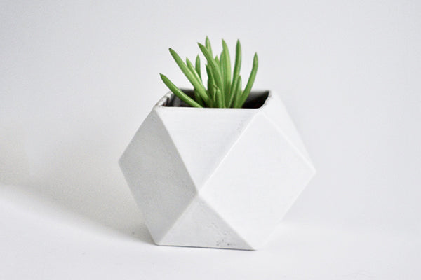 Process Goods Small Planter in Slip Casted Porcelain Handmade in Maine USA