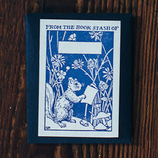 Letterpress Bookplates Made in Maine USA by Saturn Press Squirrel