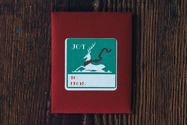 Joy Deer Sticker Gift Tags