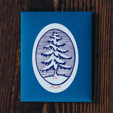 Oval Tree Sticker Gift Tags