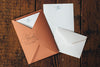 Letterpress Stationery Sets by Saturn Press are made in Maine, USA, on recycled paper. Flourish Dove