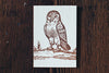 Letterpress Note Cards by Saturn Press are made in Maine, USA, on recycled paper. Wise Owl