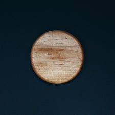 Small Round Maple Cheese Serving Board by Alex Beaudet Made in Maine USA
