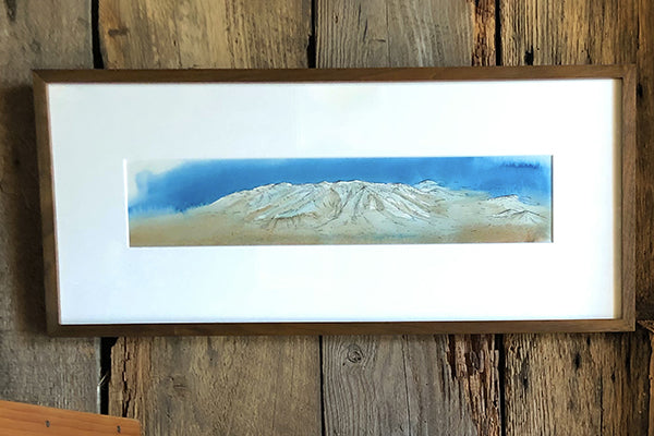 The Good Supply Midcoast Artisan Store Celestial Seamount Water Color Underwater Painting by Artist Molly Maps Made in Maine USA