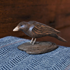 The Good Supply Midcoast Artisan Store Driftwood Base Handmade Carving Folk Art by Charlie Buzby Made in Maine USA Small Chickadee