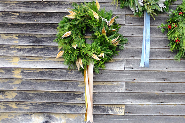 The Good Supply Midcoast Artisan Store Inspired by Nature Made in Maine USA Wreath Pick-Up with Kim Michel of Blue Cloud Farm Golden Milkweed Pods