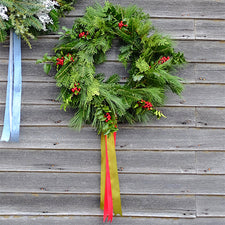 The Good Supply Midcoast Artisan Store Inspired by Nature Made in Maine USA Wreath Pick-Up with Kim Michel of Blue Cloud Farm Red Berries