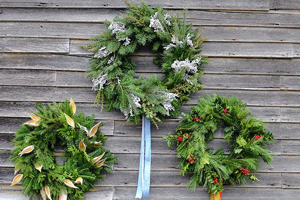 The Good Supply Midcoast Artisan Store Inspired by Nature Made in Maine USA Wreath Pick-Up with Kim Michel of Blue Cloud Farm Silver Miller Foliage