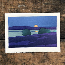 The Good Supply Midcoast Artisan Store Pemaquid Letterpress Cards Saturn Press Made in Maine USA August Moon by Arthur Wesley Dow circa 1905