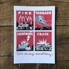 The Good Supply Pemaquid Midcoast Artisan Store Letterpress Card Saturn Press Made in Maine USA Disaster