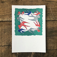 The Good Supply Pemaquid Midcoast Artisan Store Letterpress Card Saturn Press Made in Maine USA Flying Birds