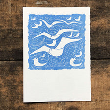 The Good Supply Midcoast Artisan Store Letterpress Cards Saturn Press Made in Maine USA Gulls
