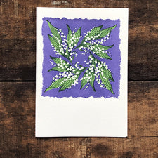 The Good Supply Midcoast Artisan Store Pemaquid Letterpress Cards Saturn Press Made in Maine USA Lily of the Valley Swirl