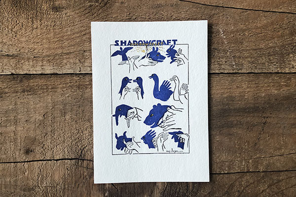 The Good Supply Pemaquid Midcoast Artisan Store Letterpress Card Saturn Press Made in Maine USA Shadow Craft