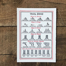 The Good Supply Pemaquid Midcoast Artisan Store Letterpress Card Saturn Press Made in Maine USA Trail Signs