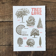 The Good Supply Pemaquid Midcoast Artisan Store Letterpress Card Saturn Press Made in Maine USA Tree Lore