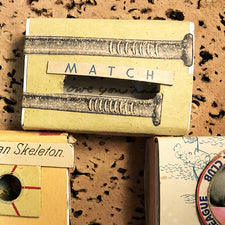 The Good Supply Midcoast Artisan Store Matchbook Artwork Match made by Margaret Rizzio in Maine USA