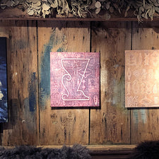 The Good Supply Midcoast Artisan Store Relief Tapestry Pink by Artist George Mason Made in Maine USA