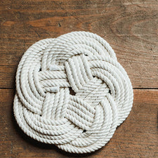 The Good Supply Midcoast Artisan Store Sail Locker Belfast Coastal Rope Turks Head Trivet Made in Maine USA