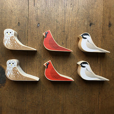 The Good Supply Midcoast Artisan Store Sustainable Hardwood Doorstop Bird Owl Cardinal Made in Vermont USA