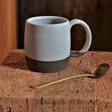 The Good Supply Pemaquid Maine Artisan Store Ceramics Artist Natania Hume of Vermont Slow Studio Earthenware Clay Body Mug Birch Made in USA