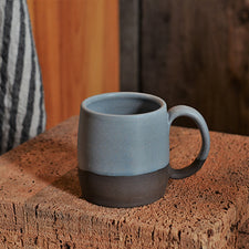 The Good Supply Pemaquid Maine Artisan Store Ceramics Artist Natania Hume of Vermont Slow Studio Earthenware Clay Body Mug Dawn Made in USA