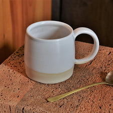 The Good Supply Pemaquid Maine Artisan Store Ceramics Artist Natania Hume of Vermont Slow Studio Earthenware Clay Body Mug Winter Light Made in USA