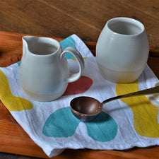 The Good Supply Pemaquid Maine Artisan Store Ceramics Artist Natania Hume of Vermont Slow Studio Earthenware Clay Body Sugar and Cream Set Winter Light Made in USA