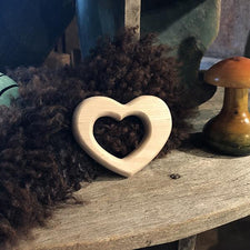 The Good Supply in Pemaquid Maine Artist Collection Maple Landmark Made in USA Heart Teething Ring