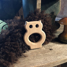 The Good Supply in Pemaquid Maine Artist Collection Maple Landmark Made in USA Owl Teething Ring