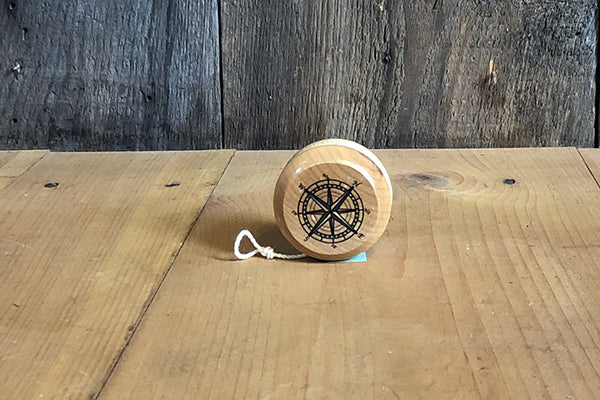 The Good Supply in Pemaquid Maine Artist Collection Maple Landmark Sustainably Harvested Wood Compass Rose Yo-Yo made in USA