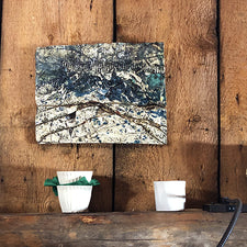 The Good Supply Pemaquid Maine Environmental Artist Jonathan Mess Ceramic Waterstruck Slab No 2 Made in Maine USA