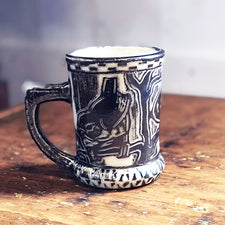 The Good Supply Pemaquid Maine Environmental Artist Tim Christensen Ceramic Sculpture Sgraffito Wren's Stein Made in USA