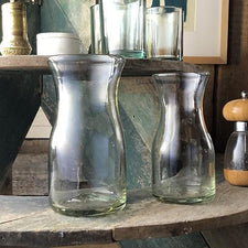 The Good Supply in Pemaquid Maine Artisan Store Bitters Co Recycled Glass Carafes Made in Mexico