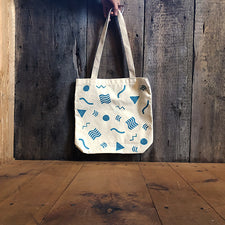The Good Supply in Pemaquid Maine Block Print Artist Allison McKeen Tote Bag Made in USA