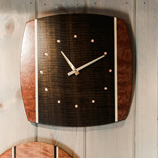 The Good Supply in Pemaquid Maine Woodworking Artist Louis Charlett Wall Clock Exotic Wood Face Made in USA