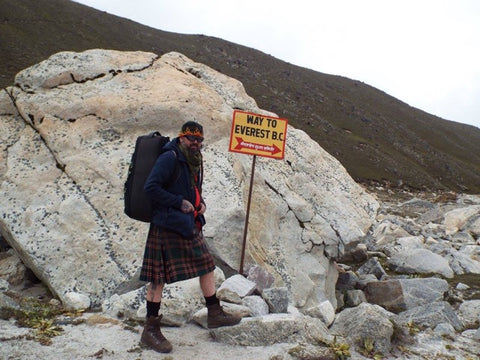 Craig McFarlane on the way to Everest Base Camp