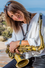 "Deanna Bogart won the Blues Music Award for Best Horn Instrumentalist three years in a row. Her new CD ""Just a wish away..."" on Blind Pig Records has been mentioned and/or reviewed in Rolling Stone and USA Today. She was featured on SiriusXM in July 2014."