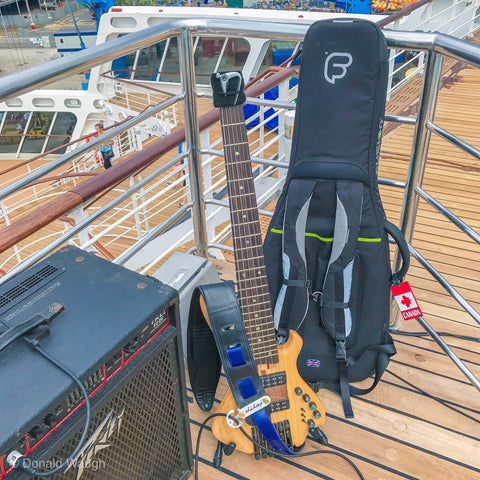 Donald Waugh's Bass Guitar, Amp and Gig Bag