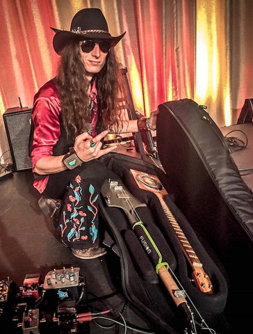 Justin Johnson with his Fusion Double Guitar Bag