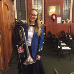 Madonna Mallon Trombonist at London Metropolitan Brass Band