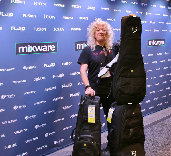 Lars Mullen at the Mixware Booth Namm Show 2018