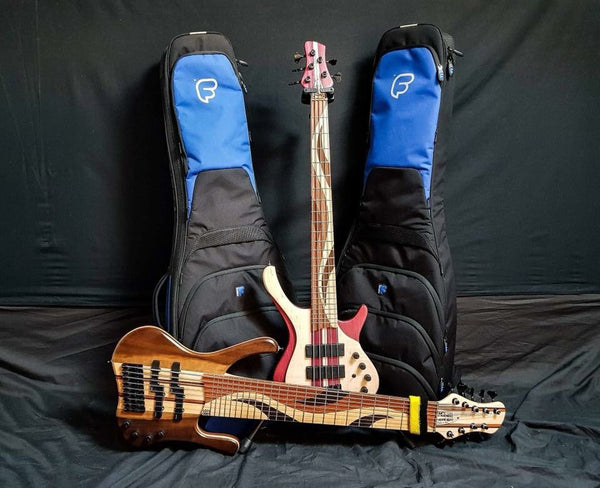 Usama's basses and cases
