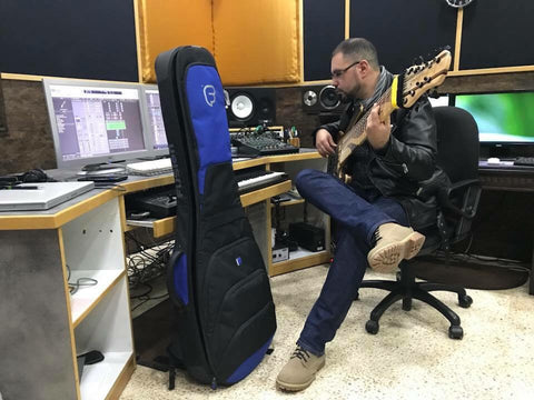 Usama Allati in the studio