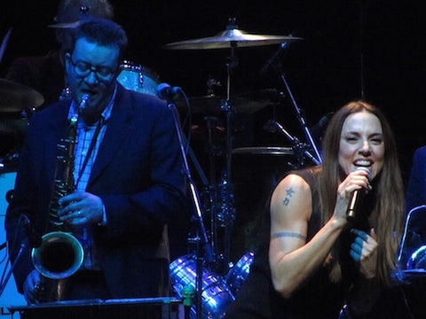 Saxophonist Phil Veacock with Mel C.
