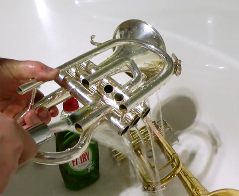 Rinse your cornet with clean water