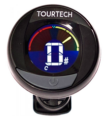 Tourtech Clip-on Instrument Tuner with colour screen