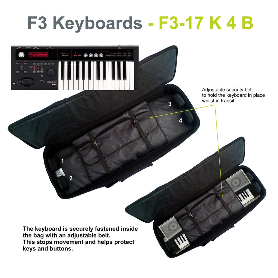 Gig Bag for Keyboard 04 (49-61 keys), Keyboard & Synthesizer gig bags,- Fusion-Bags.com