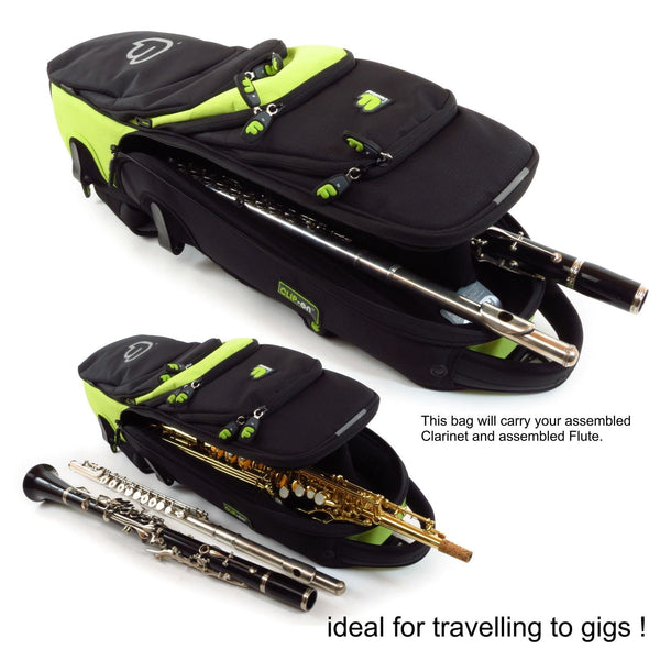 Multi-instrument gig bag Fusion Premium Soprano Saxophone Gig Bag for Clarinet and Flute