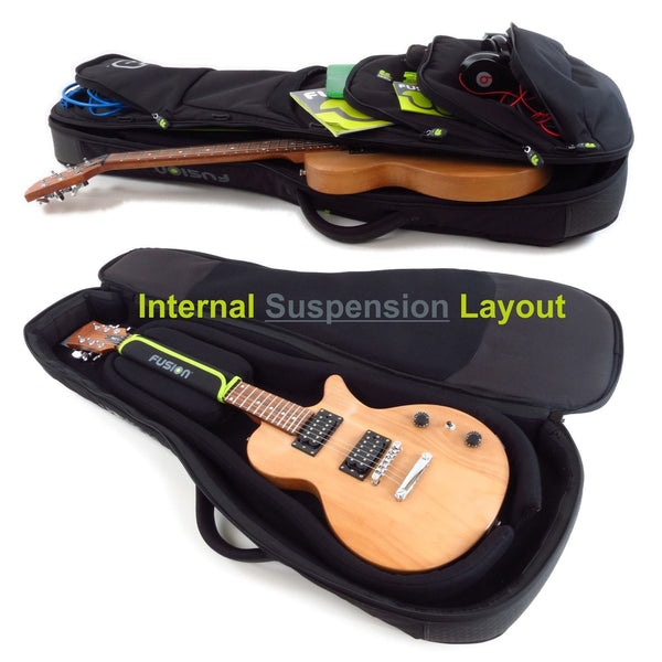 Internal suspension inside Urban Series Electric Guitar Gig Bag